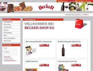 Becker Shop basierend auf dem Magento System