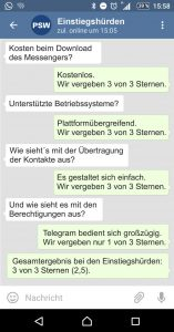 Telegram Einstiegshürden