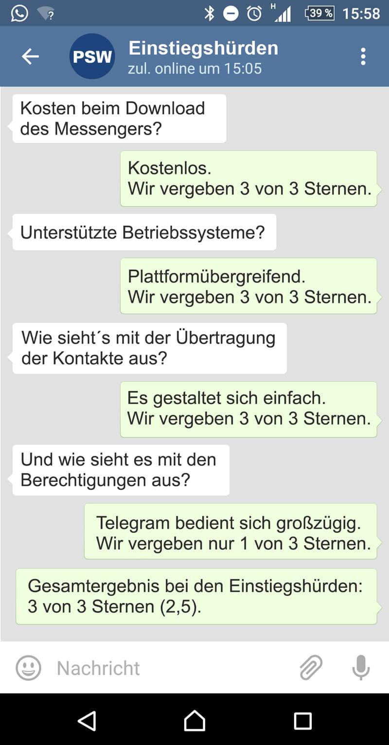 Telegram Speicherort ändern