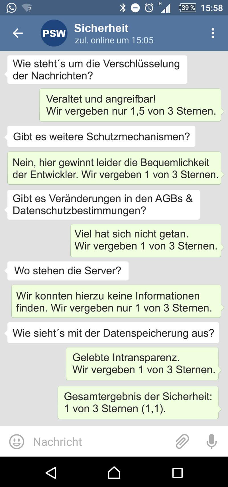 Telegram Sicherheit