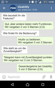 Telegram Usability