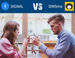 SIGNAL vs SIMSme