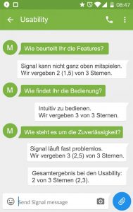 Signal Usability