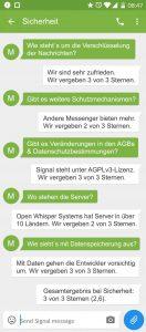 Signal Sicherheit
