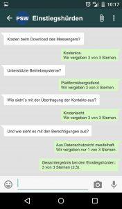 WhatsApp Eintstiegshürden