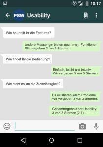 WhatsApp Usability