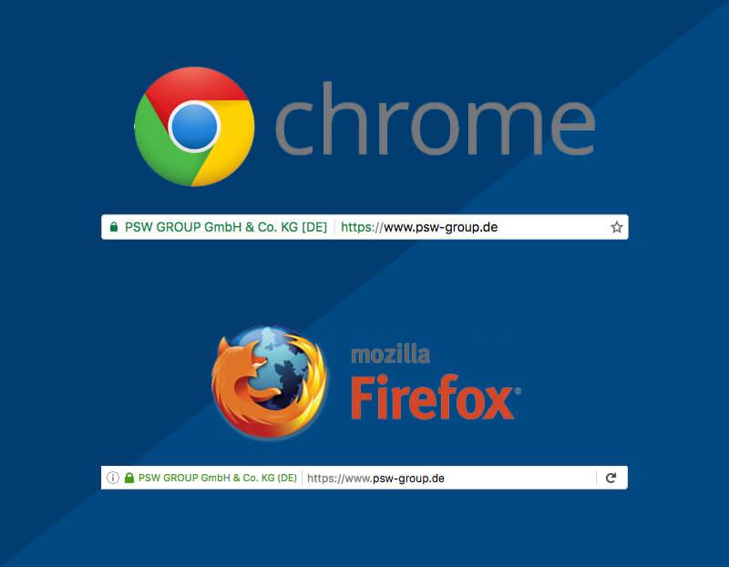 Firefox & Chrome: so stellen die beliebtesten Browser HTTPS dar