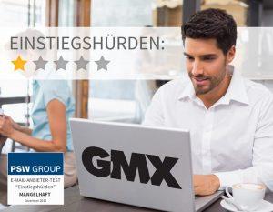 Einstiegshürden bei GMX 1 von 5 Punkten