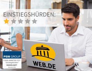 Einstiegshürden bei Web.de 1 von 5 Punkten