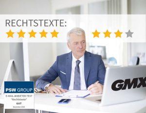 Rechtstexte bei GMX 8 von 9 Punkten