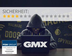 Sicherheit bei GMX 4 von 14 Punkten