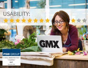 Usability bei GMX 9 von 11 Punkten