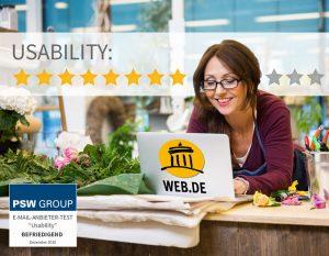 Usability bei web.de 8 von 11 Punkten