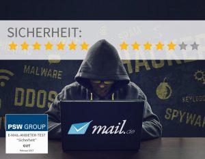 Sicherheit bei mail.de 12 von 14 Punkten