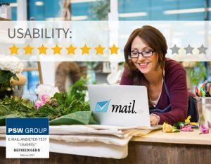 Usability bei mail.de 8 von 11 Punkten