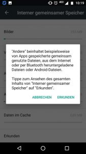 Android andere Daten