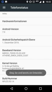 Android Build-Nummer