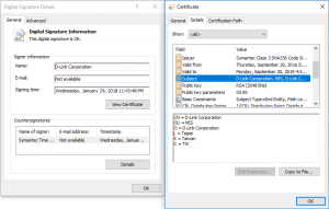 D-Link Zertifikate verbreiten Malware