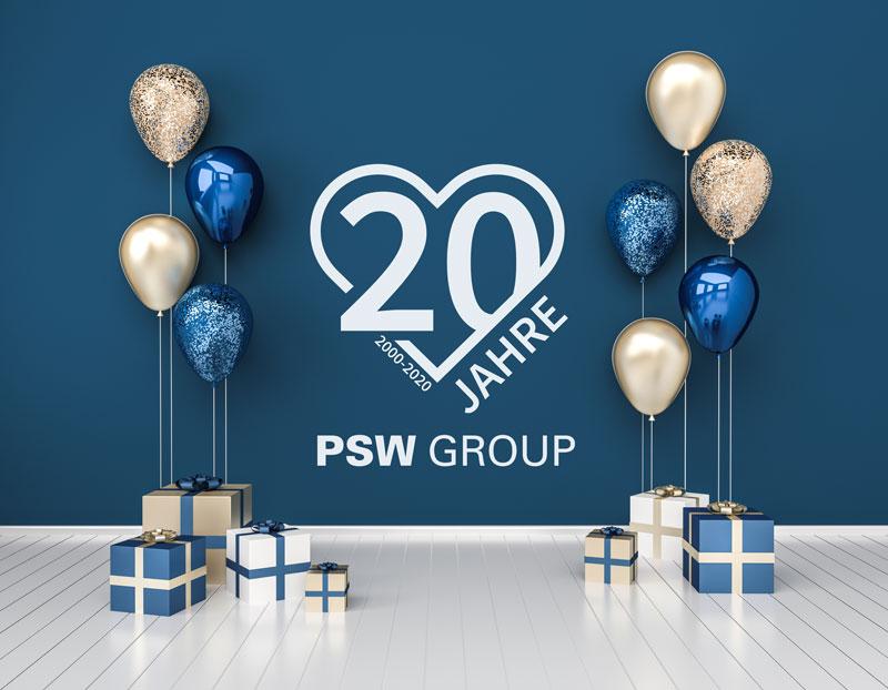 Firmenjubiläum 20 Jahre PSW GROUP