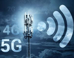 5G Fast speed Wireless internet connection communication mobile technology concept