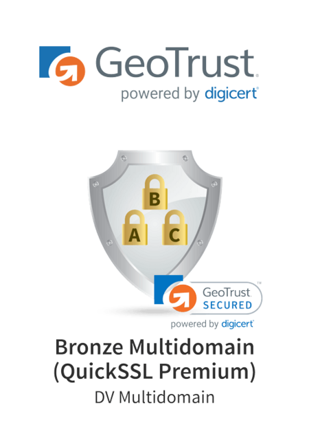 GeoTrust Bronze Multidomain (QuickSSL Premium)