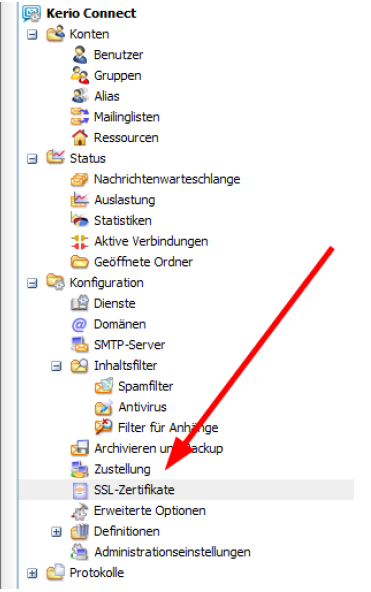 CSR für Kerio Connect Mail Server erstellen: CSR Erstellung - SSL ...