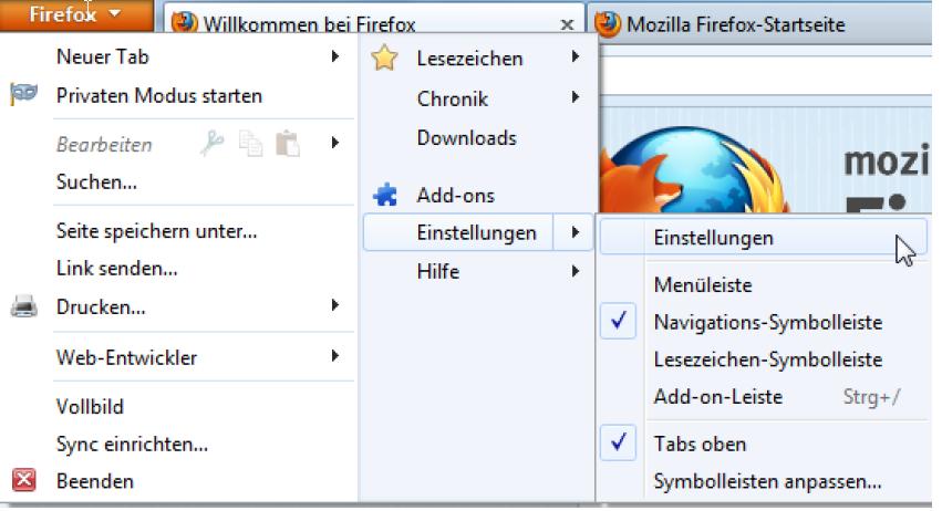 Zertifikat und Key als PKCS12 mit Firefox exportieren
