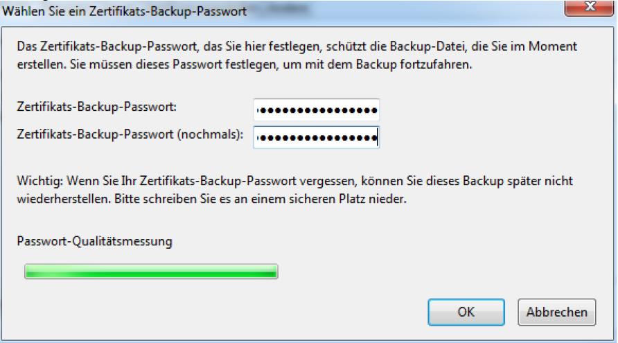 Vergeben Sie ein sicheres Passwort