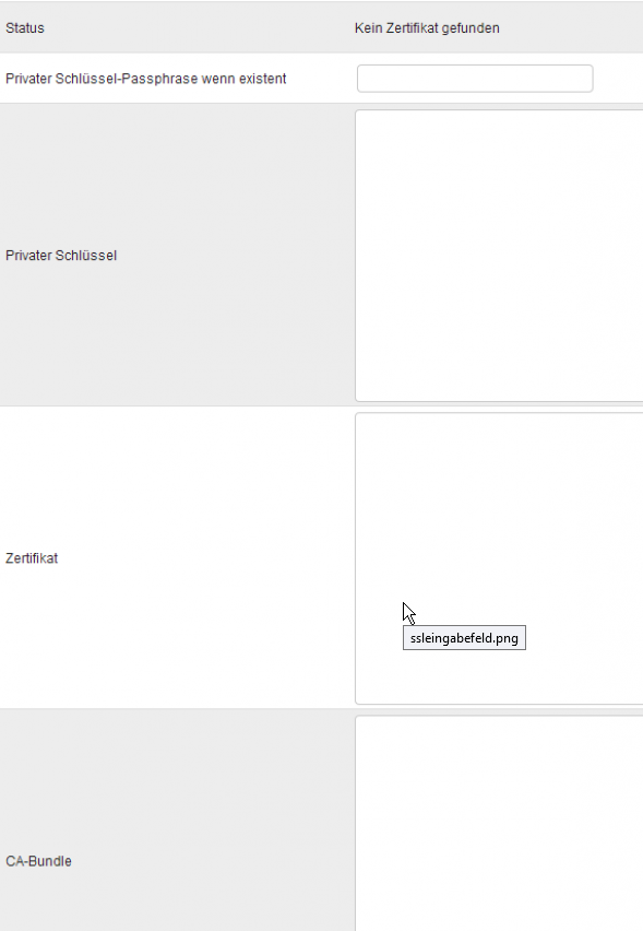 Zertifikat in ein i-MSCP einbinden