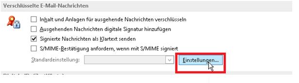 Verschlüsselte E-Mail Nachrichten